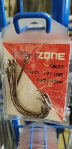 Circle Hooks size 10/0 - super sharp, super strong, ideal for all sea fishing